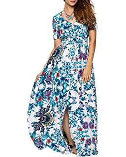 Vestidos Corto Mujer Elegante Largo Floral Mariposa Balanceo Verano Playa Casual Vestido