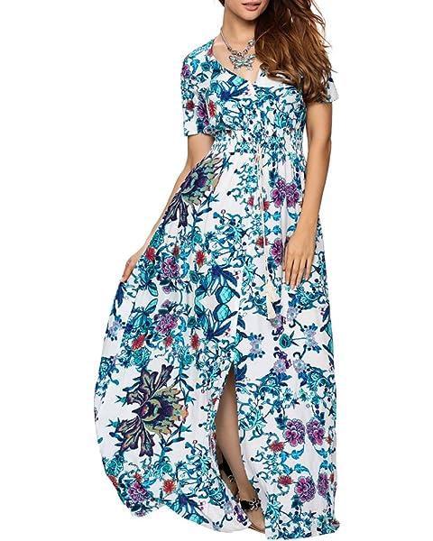 Plus Size Women Sleeveless Maxi Long Dress Summer Party Beach Holiday Dress 6-24