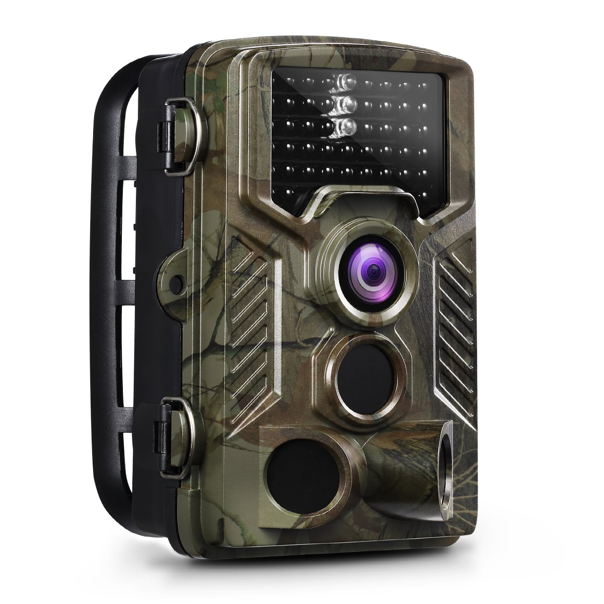 OGL Trail Camera 16MP 1080P 2.4'' LCD Game Hunting Camera 120° PIR Sensor 0.2s Fasts Trigger Night Vision up to 65ft/20m with 46Pcs 850nm Infrared LED IP56 Waterproof 32GB for Wildlife Scouting by OGL