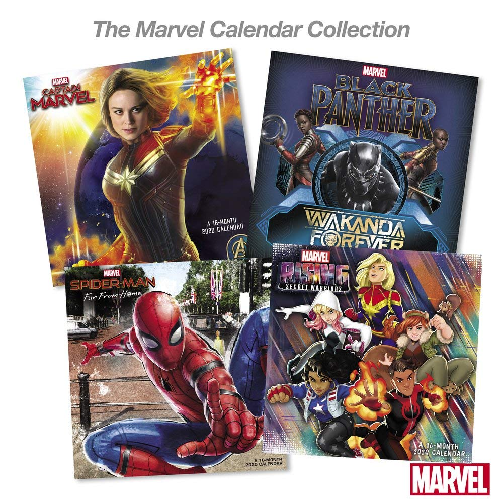 Marvel Calendar 2020 Amazon.: 2020 Marvel Captain Marvel Wall Calendar (DDW2802820