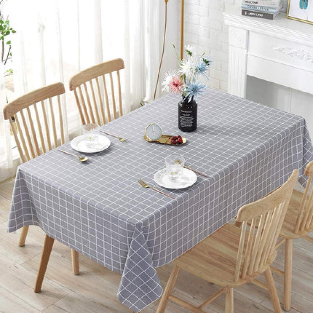 WJJYTX Plastic Table Covers Wipe clean,Square Wipe Clean Tablecloth Rectangular Waterproof Vinyl for Garden Kitchen Outdoor or Indoor Rural Style-100 * 160_F
