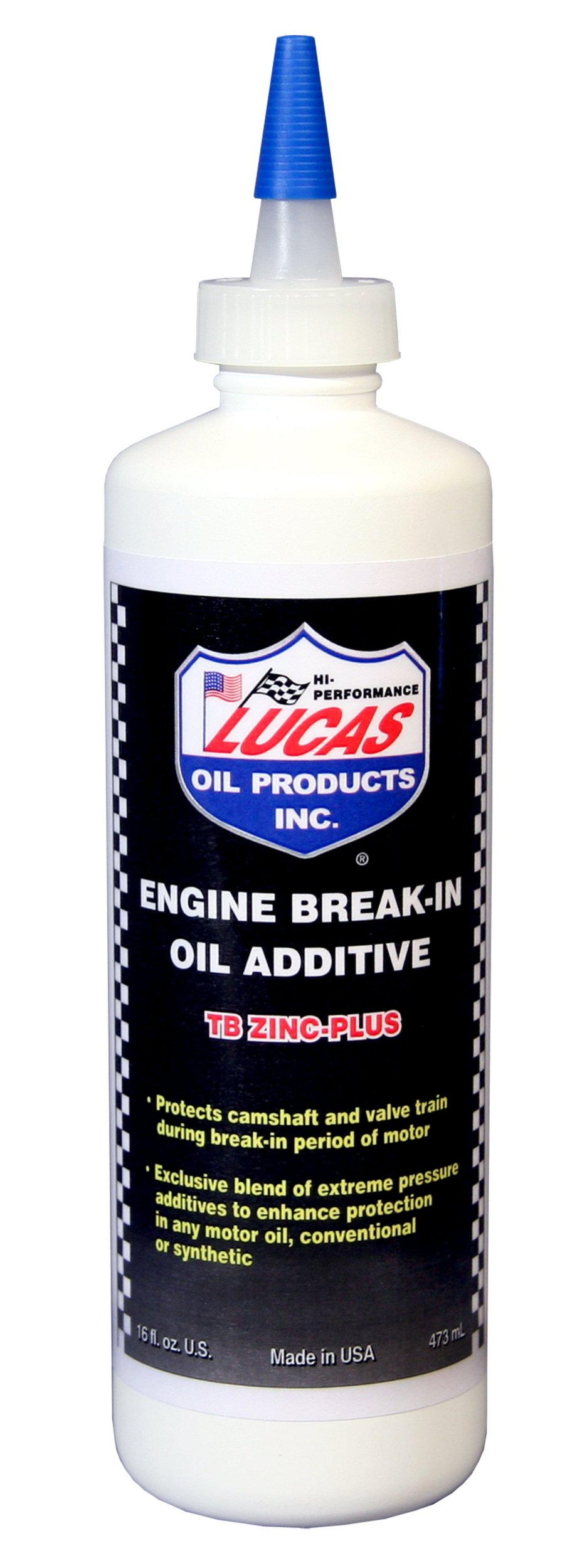 Lucas Oil 10063-PK12 Engine Break-In Oil Additive - TB Zinc Plus - 16 oz. - Pack of 12
