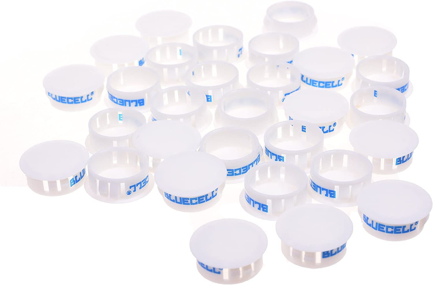 BCP 30pcs White Color Plastic 24.7mm Snap in Locking Hole// Tube Fastener Cover Hole Plug