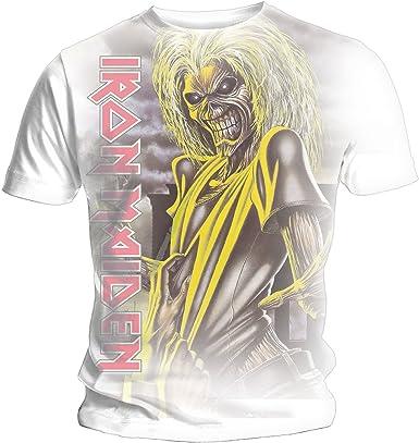 Iron Maiden Killers Vertical Logo - Camiseta para Hombre, Color Blanco