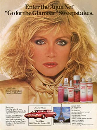 Amazon.com: Donna Mills for Aqua Net Sweepstakes ad 1987 ...