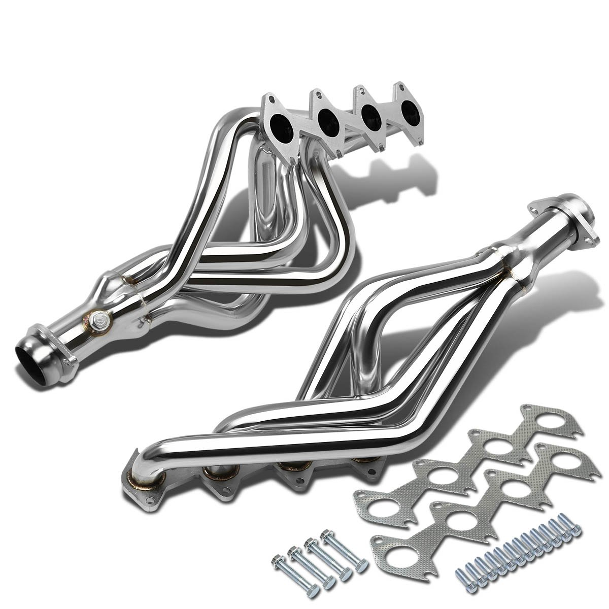 For Ford Mustang GT High-Performance 2x4-1 Stainless Steel Exhaust Header Kit 4.6L V8