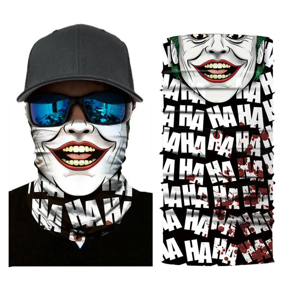 Palalibin Wrinkle Brighten,2019 Cycling Motorcycle Head Scarf Neck Warmer Face Mask Ski Balaclava Headband (Multicolor, D)