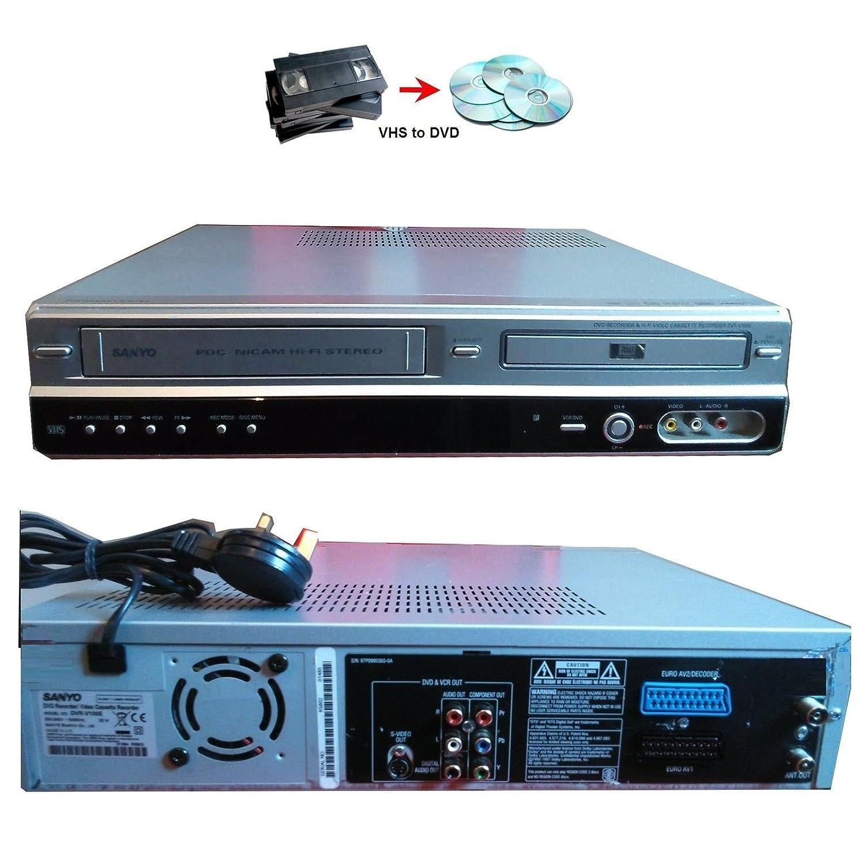 SANYO DVR-V100E DVD Recorder & VHS VCR Recorder Combination ...