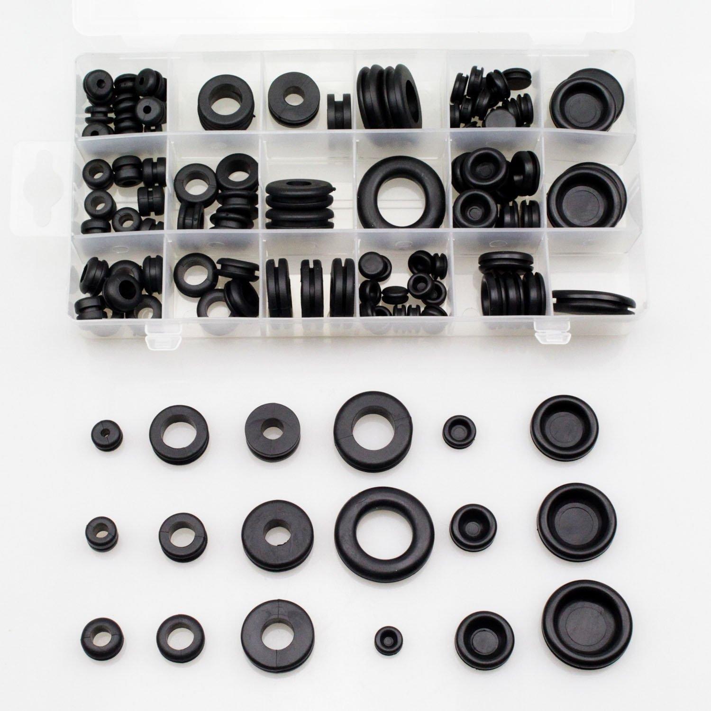Pingranso - Kit de passe-câbles en caoutchouc - Assortiment de bagues et joints d'étanchéité pour réparation automobile