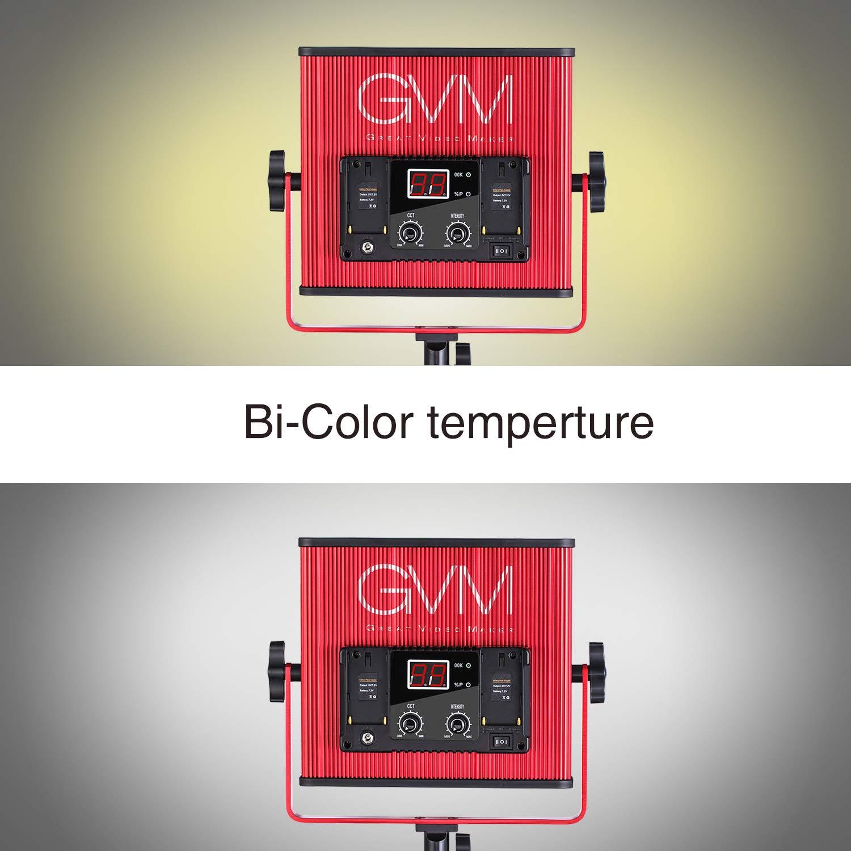 GVM LED Video Light 520 CRI97 + & TLCI 97+ 18500lux @ 20 inch Bi-Color 3200-5600K for Photography Video Lighting Studio Interview Portrait by GVM Great Video Maker (Image #8)