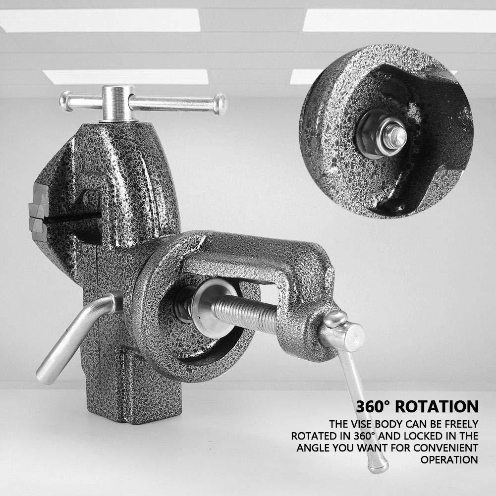 50//60//70 mm morsetto da tavolo a pinza piatta per tavolo da serraggio da tavolo per ingegnere da tavolo con incudine Morsa da banco girevole per impieghi gravosi 70mm