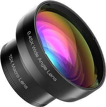 Mozeat Lens 2 en 1 Kit de Lente Camera Objetivo Profesional para iPhone 6/6S/6 Plus/5/5S/5 C, Samsung Galaxy S6/S5, Otro Smartphones (0.45 x Objetivo Gran Angular + 15 x Lente Micro): Amazon.es: Electrónica