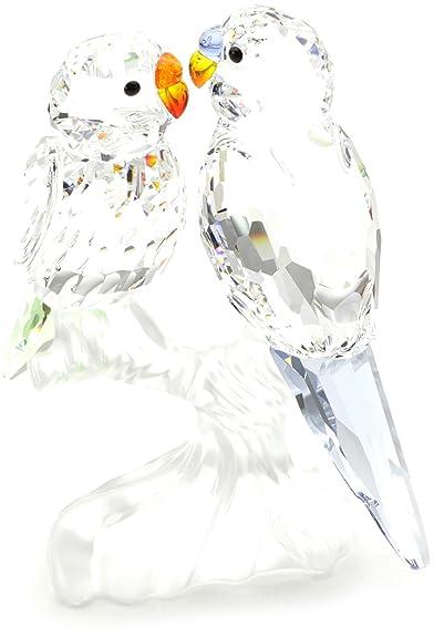 73e626d9a Swarovski Crystal Figurines Budgies 680627: Amazon.co.uk: Jewellery
