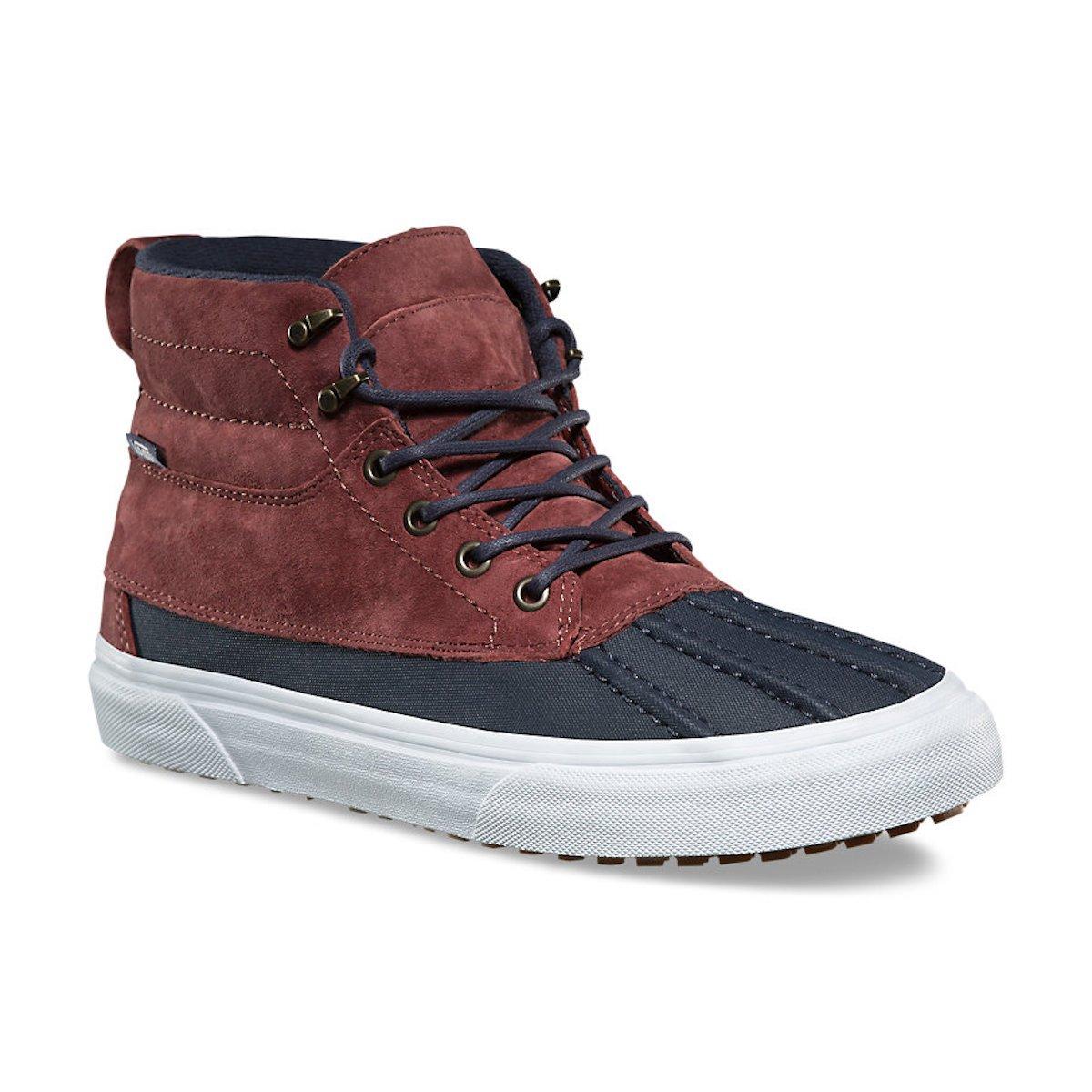 Vans Men's Sk8 Hi Del Pato Skateboarding Shoes (10 B(M) US Women / 8.5 D(M) US Men, SABLE/PARISIAN NIGHT)