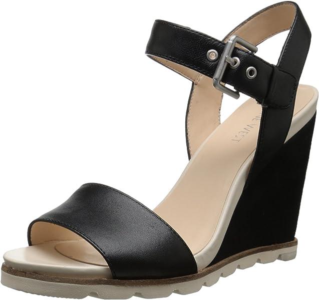 6b4da2636552 Nine West Women s Gronigen Leather Wedge Sandal