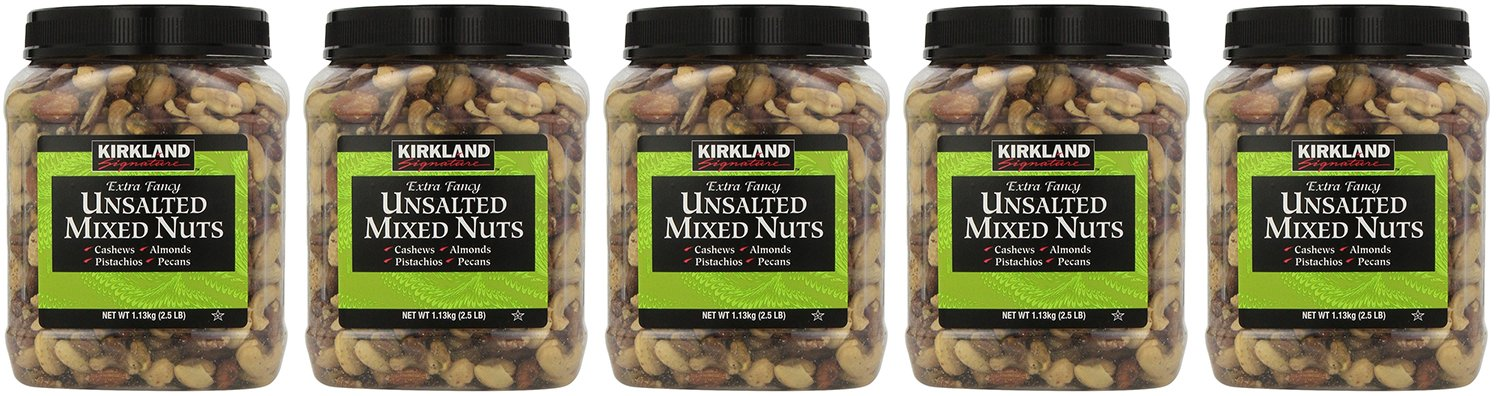 Kirkland Signature, Extra Fancy Unsalted Mixed Nuts 40 Ounce ZkfJx (Pack of 5)