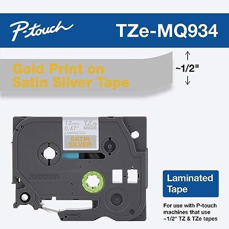 Brother TZEMQ934 etiqueta de impresora Plata - Etiquetas de ...