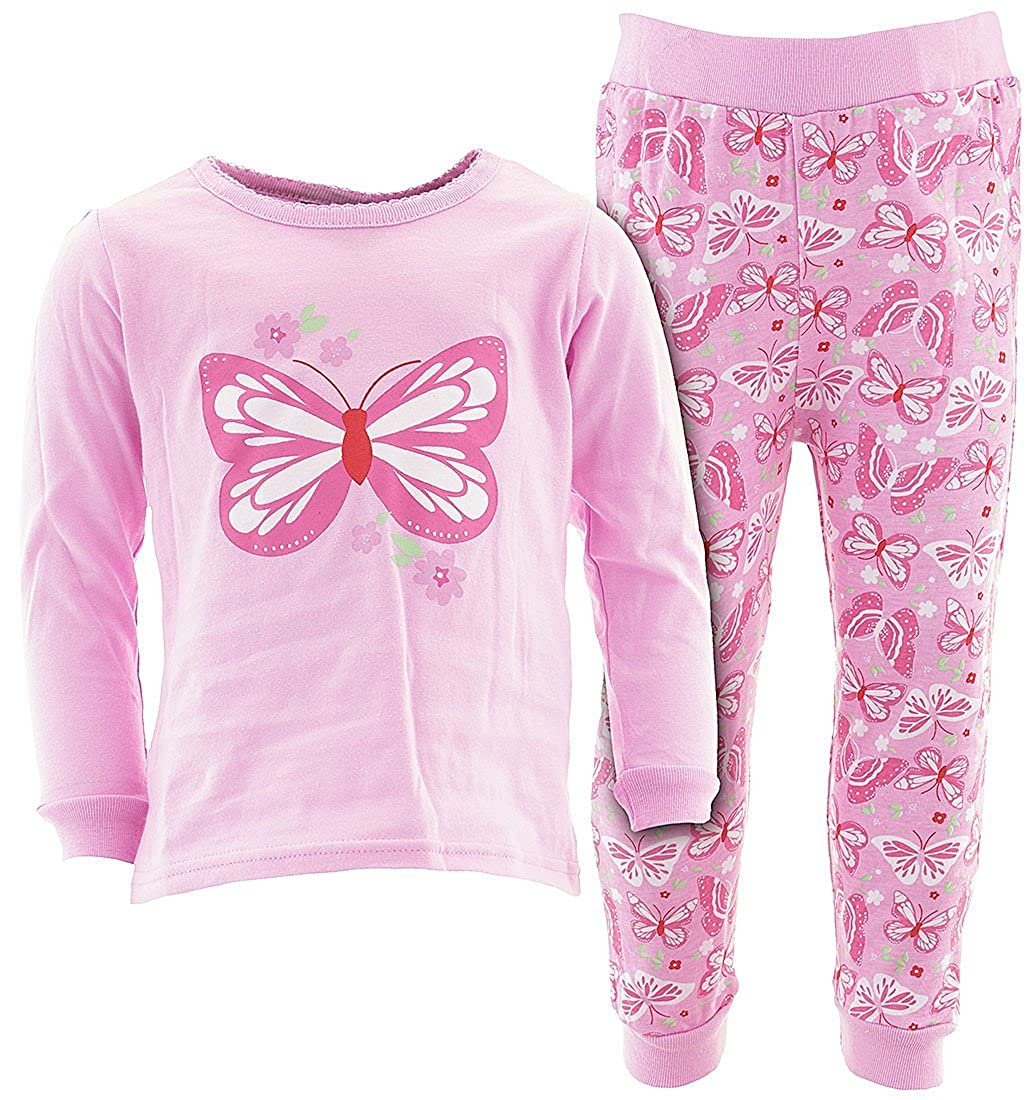 Sweet /& Soft Little Girls Long Sleeve Cotton Pajamas
