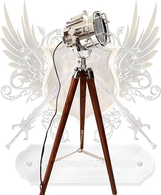 Lámpara de pie, diseño de foco vintage: Amazon.es: Hogar