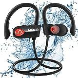 Auriculares Bluetooth, Mugo Ipx7 Impermeable Auriculares Inalambricos Deportivos con Micrófono Integrado y Manos Libres, Cancelación de Ruido CVC 6.0, Sonido Estéreo de Calidad Superior, para Correr