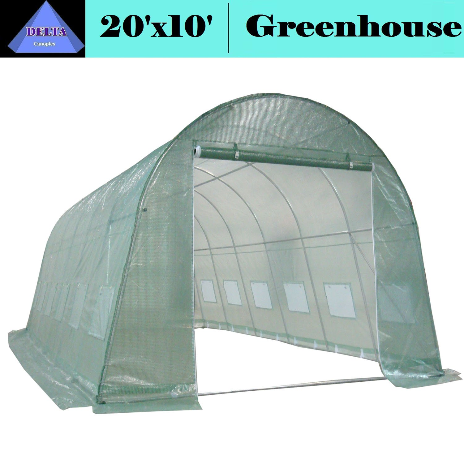 DELTA Canopies – Large Heavy Duty Green House Walk in Greenhouse Hothouse 20 X 10 125 Pounds