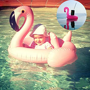 "36/"" Giant Inflatable Flamingo Shaped Swim Ring Pool Lounger Float Raft Fun Beach"