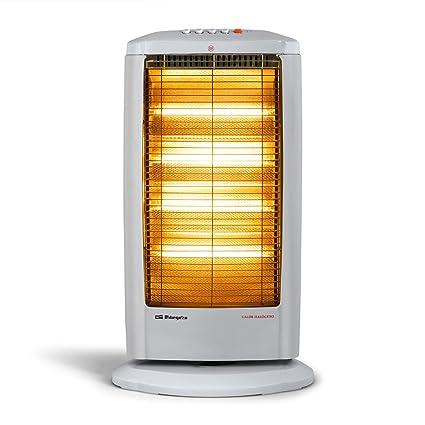 Orbegozo BP 0404 A - Estufa eléctrica halógena, movimiento oscilante, 1800 W de potencia, 4 niveles de funcionamiento: Amazon.es: Hogar