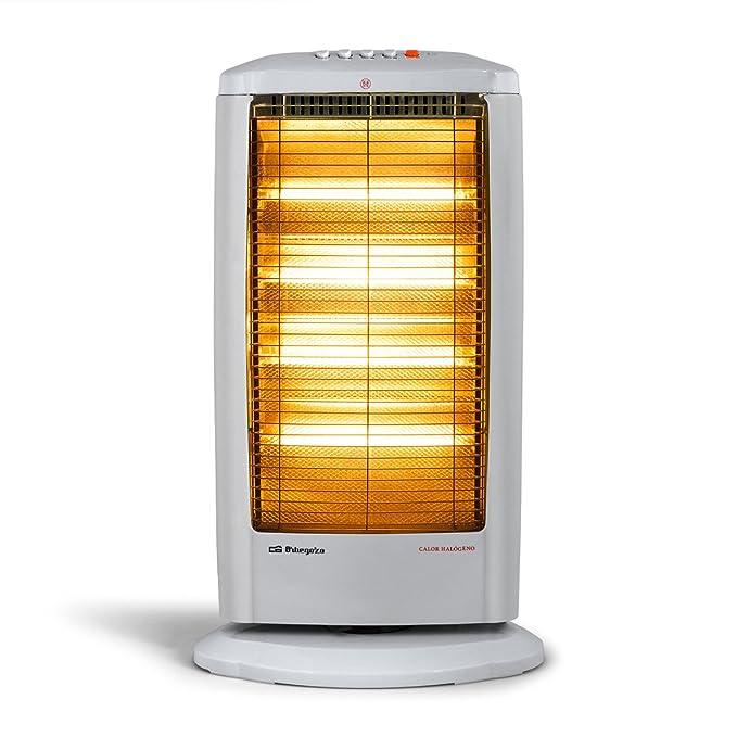 Orbegozo BP 0602 A - Estufa eléctrica halógena, 1000 W de potencia, 2 niveles de funcionamiento: Amazon.es: Hogar