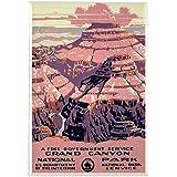 "CafePress - 1930s Vintage Grand Canyon National Park Rectangle - Rectangle Magnet, 2""x3"" Refrigerator Magnet"