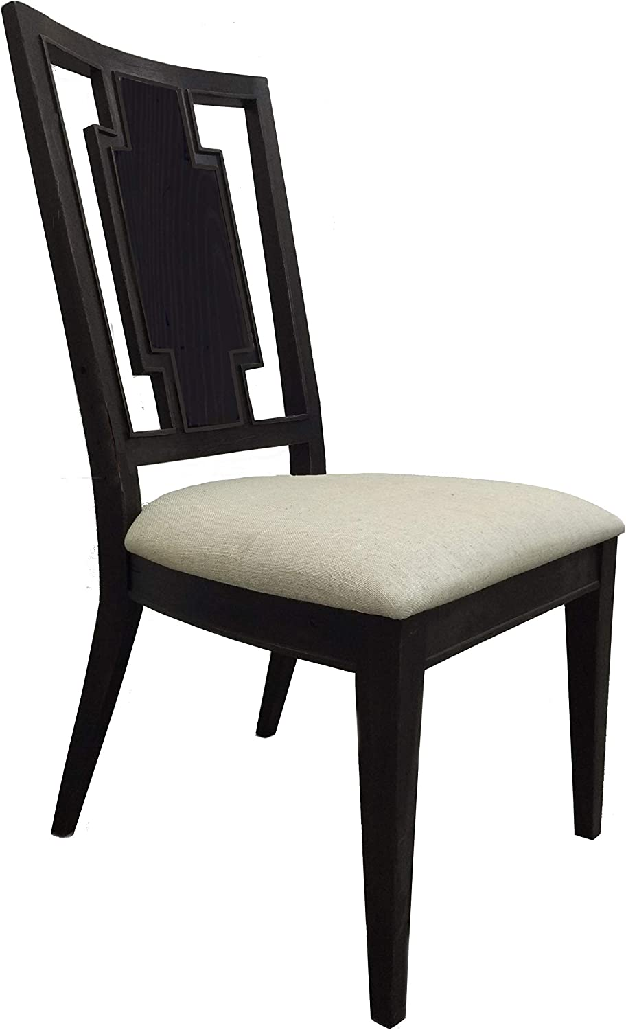 Furniture At Home Weston Side Chair, Black with Golden Brown