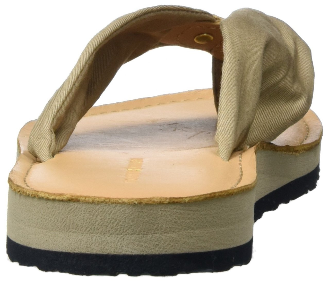 Tommy Beach Hilfiger Damen Leder Footbed Beach Tommy Sandale Zehentrenner Beige (Cobblestone 068) 28cedb