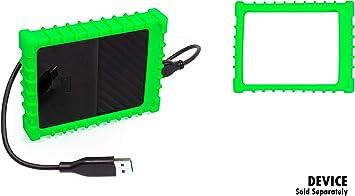 getgear テイラーメイド外付けハードドライブバンプケース WD My Passport用 マイ パスポート Mac ポータブル外付けHDD用 1TB2TB(高さ0.54インチ)衝撃からしっかり保護 揺れや落下によるダメージ