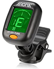 Guitar Tuner, Meeland Mini Clip-on Tuner for Guitar/Bass/Ukulele and Violin/Anti-Interference Color LCD Display/Battery Included/Auto Power Off