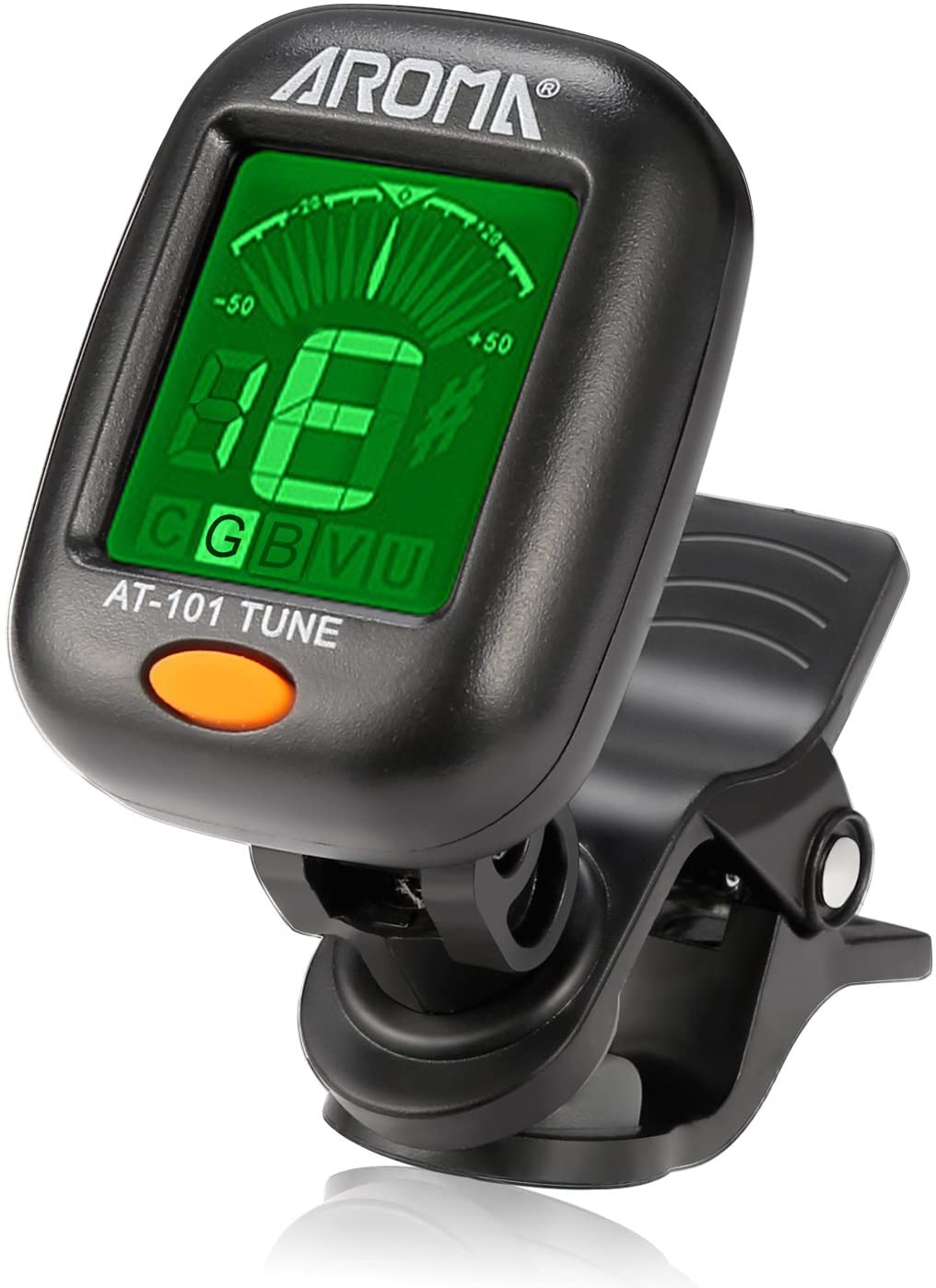 Large Note Name on Clear LCD Screen for Easy Reading Calibrated Pitch Clip-on Tuner for Chromatic//Guitar//Bass//Ukulele//Violin Auto Power Off Rayzm Guitar Tuner Battery Included