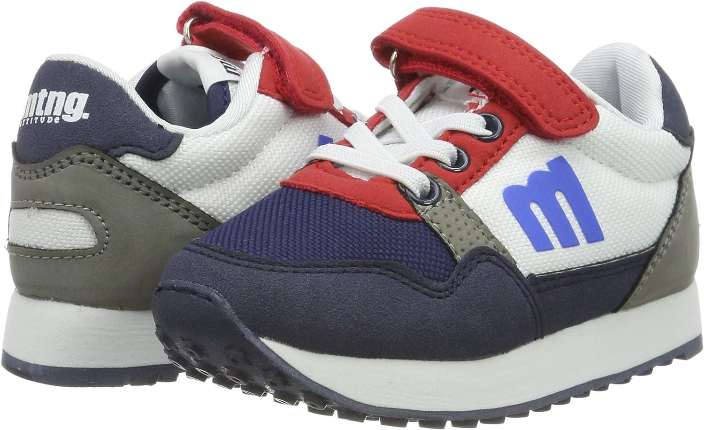 Blue Pila Marino//Boston Blanco//Raspe Rojo C45374 10 UK 10UK Child MTNG Boys/' 47737 Low-Top Sneakers
