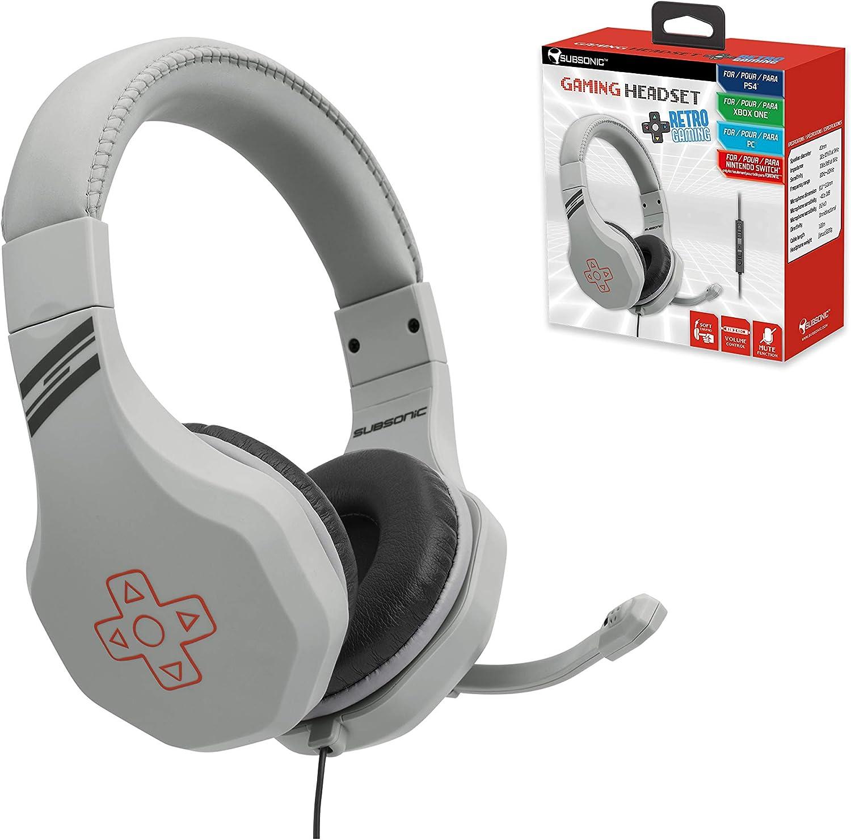 Subsonic - Auriculares gaming para juegos con micrófono para ...