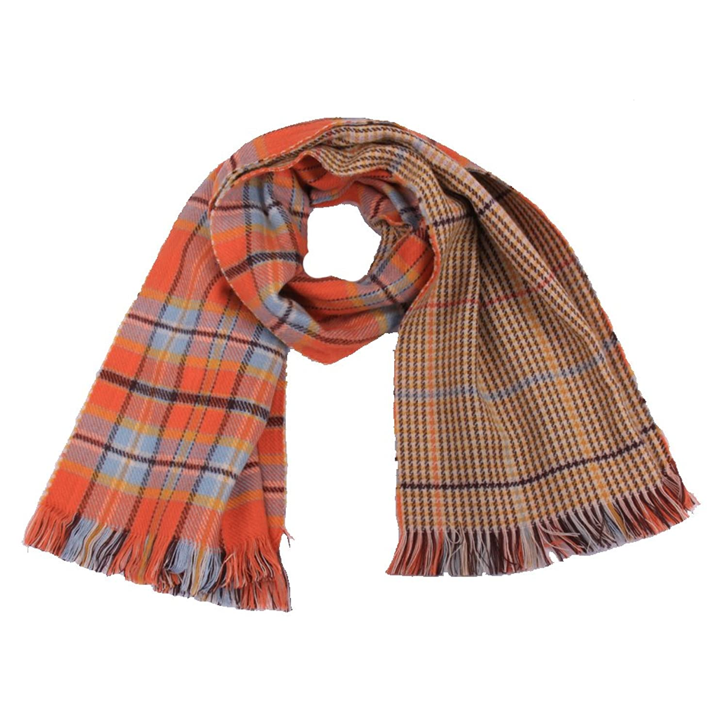Surker Fashion Striped or Plaid Cashmere Feel Women's Winter Scarf CL00082