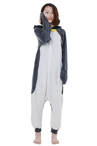 Cosplay Animales Pijamas Mujer Invierno Novedad Navidad Traje Disfraz Adulto Pingüino