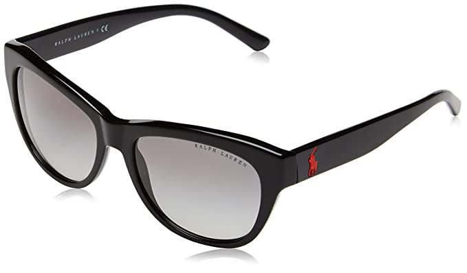 Ralph Womens 0Ra5221 137781 Sunglasses, Black (Black/Greysolidpolarized), 54 Ralph Lauren