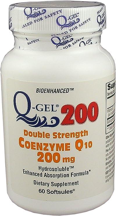 Amazon.com: q-gel 200 mg doble fuerza CoQ10 Hidrosoluble ...