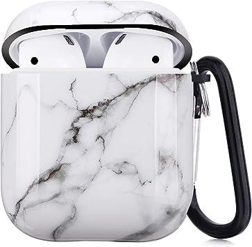 Amazon Com Airpods Case Litodream White Marble Airpod Case