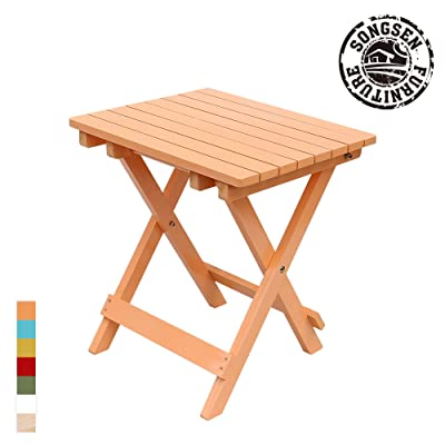 Genial Songsen Outdoor Quick Folding Camping Stool Wooden Adirondack Side Table