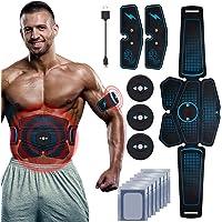 RIRGI Electroestimulador Muscular Abdominales,Electroestimulador Muscular USB Recargable, 6 Modos y 10 Niveles de…