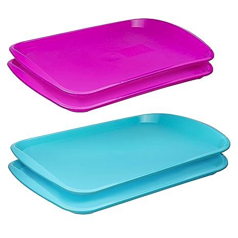 best supplier latest release info on Amazon.com: Bandeja de plástico para comida rápida (paquete ...