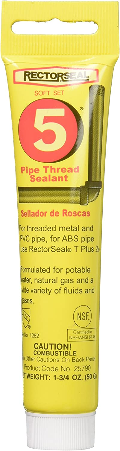 Rectorseal 25790 1-3/4-Ounce Tube No.5 Pipe Thread Sealant