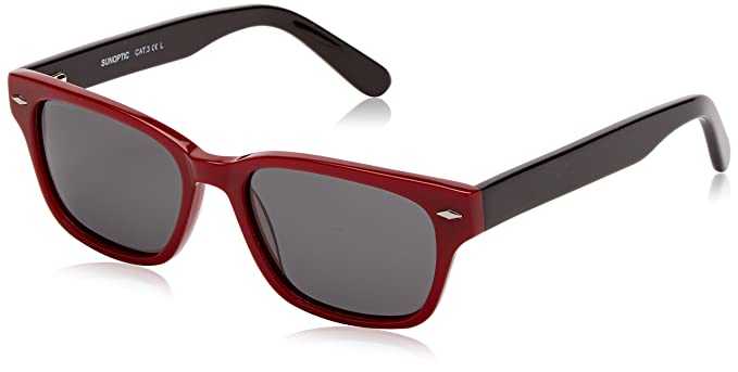 Sunoptic Lunettes de soleil - Homme - Rouge - Red (Burgundy) - Taille unique dN5jrenWsY