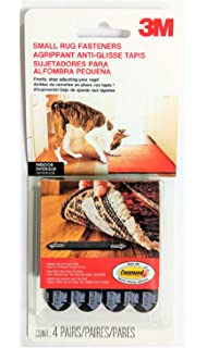3M Small Rug Fasteners, 4 Pairs of Strips Per Pack (2 Packs)