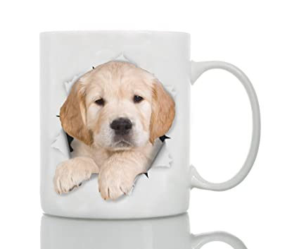golden retriever puppy dog mug ceramic 11oz funny coffee mug perfect dog lover gift
