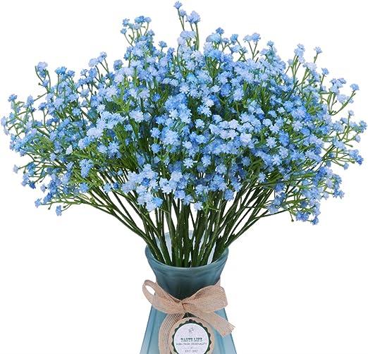 Artificial Plant Flower Blueberries Bouquet Indoor Home Floral Decor Blue