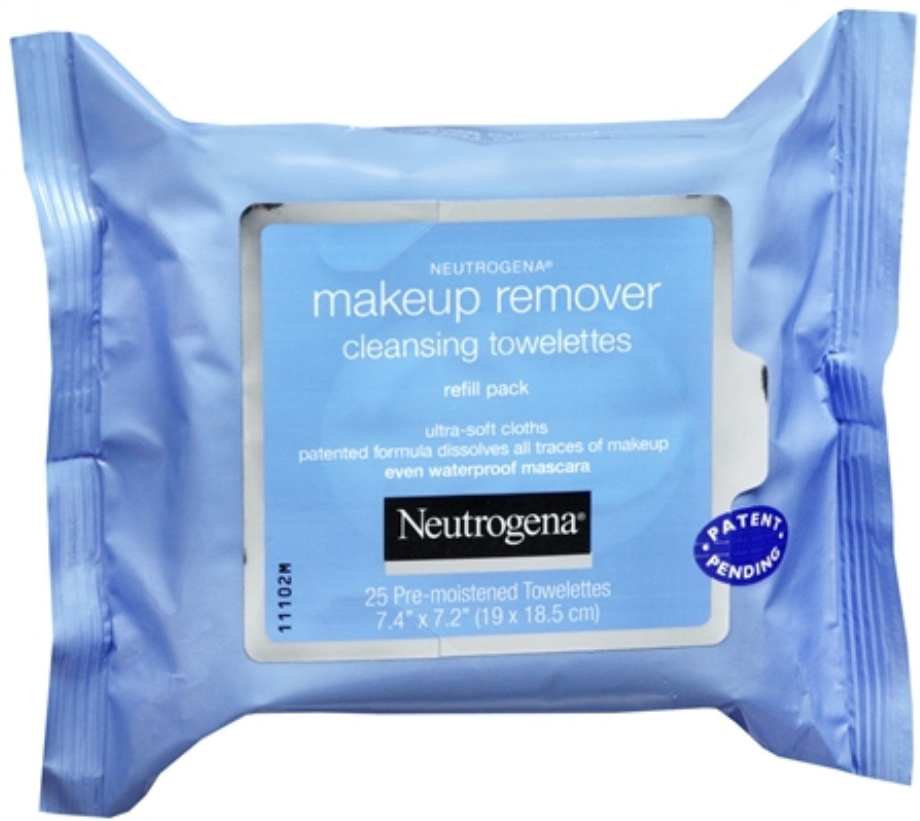 Neutrogena Make-Up Remover Cleansing Towelettes Refills 25 Each (Pack of 10)